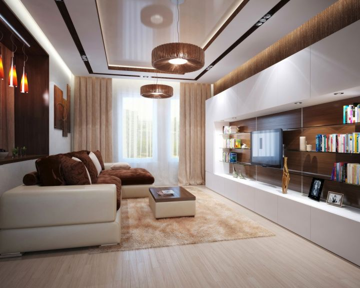 contemporary earth tone living room