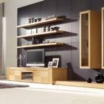 contemporary floating shelf decorating ideas