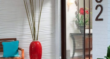 contemporary floor vase with branches