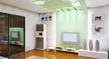 contemporary glass lime green accent walls