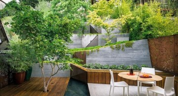 contemporary japanese style backyard
