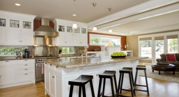 contemporary kitchen island with sink and seating