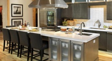 contemporary kitchen island with sink with seating