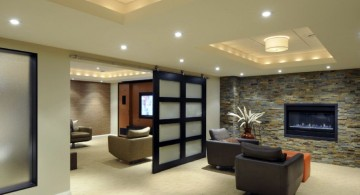 contemporary lighting ideas for basement