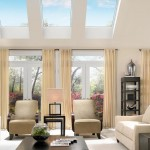 contemporary living room with skylight ideas
