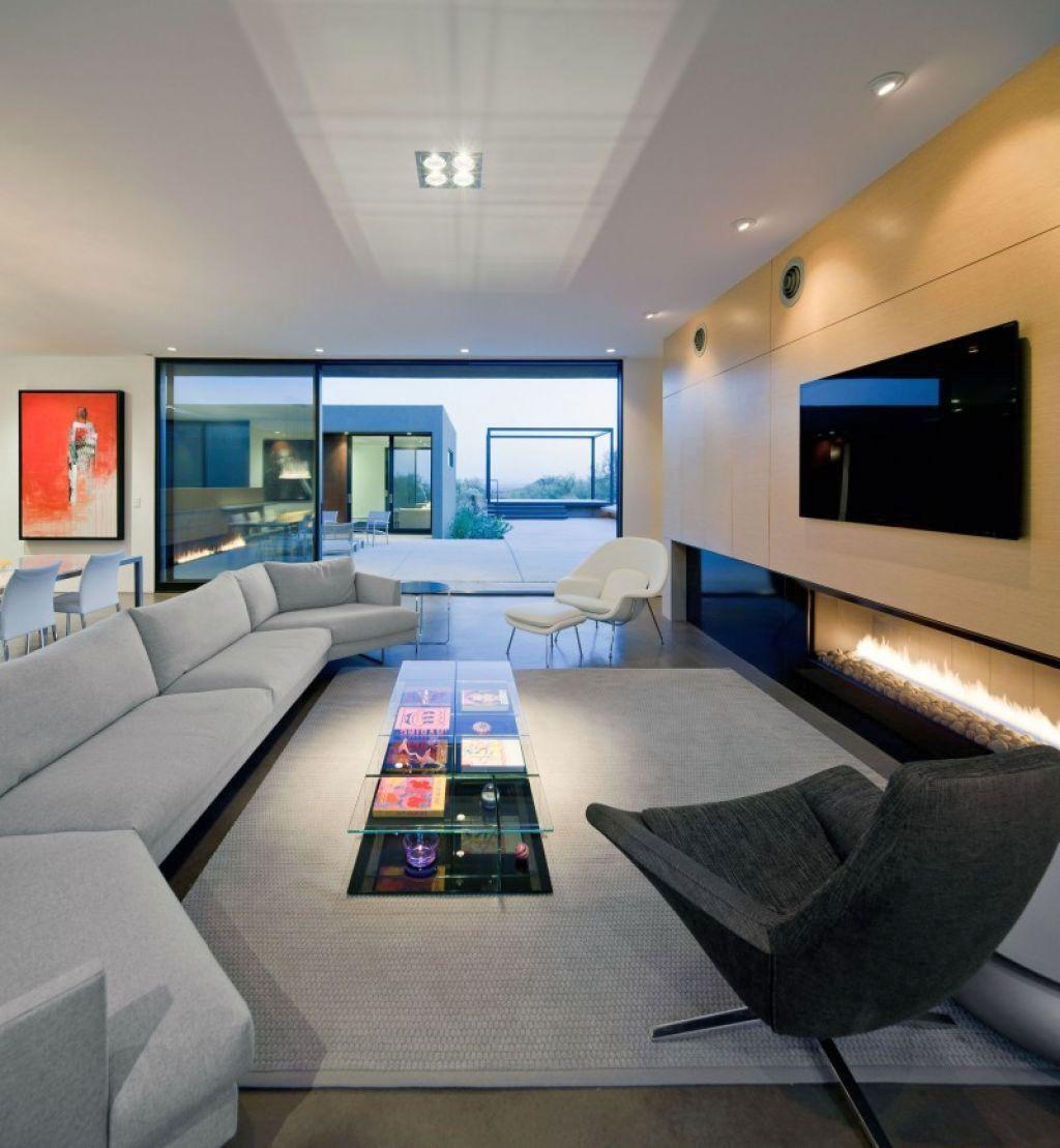 Contemporary long living room ideas for Long living room designs