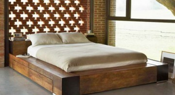 contemporary minimalist rustic bed plans