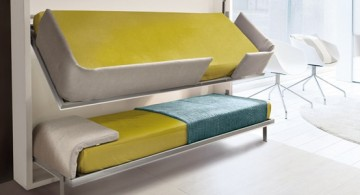contemporary modern stylish bunk beds with flip-out design