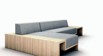 contemporary modular sofas in grey