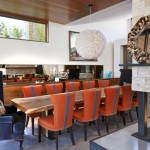 contemporary multi colored dining chairs