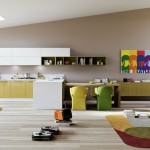 contemporary multi colored dining chairs for a loft apartment