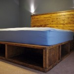 contemporary rustic bed plans with open storage boxes