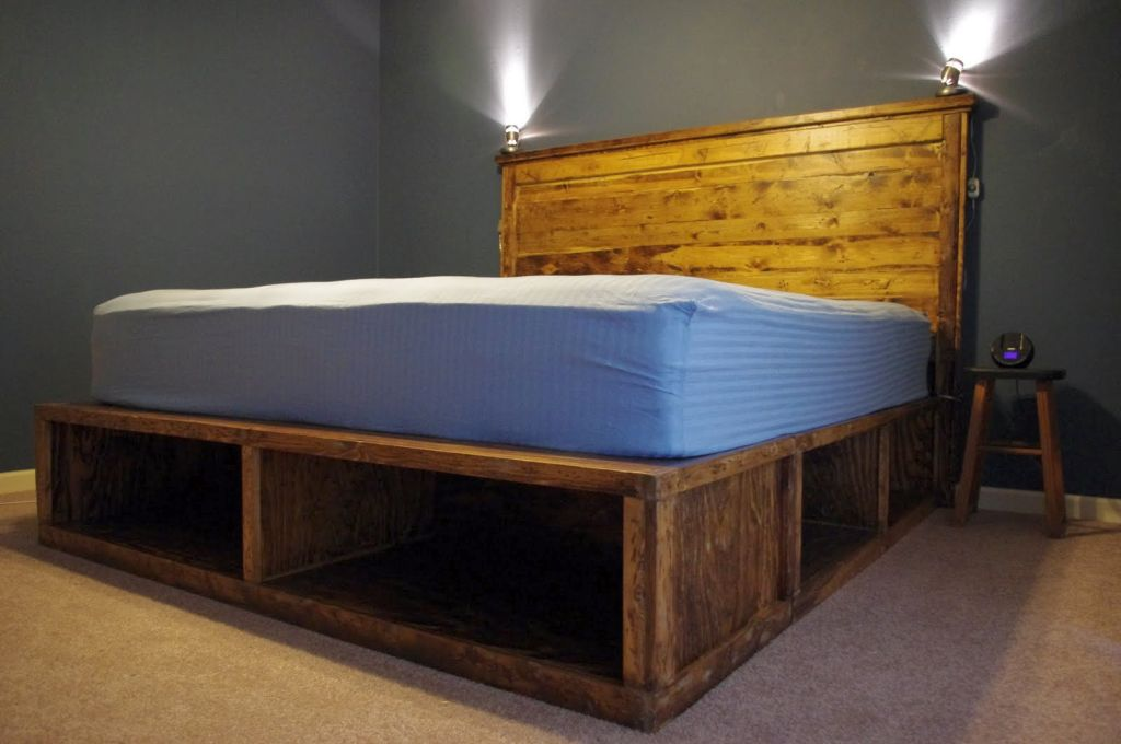 Gallery For Wooden Rustic Bed Plans