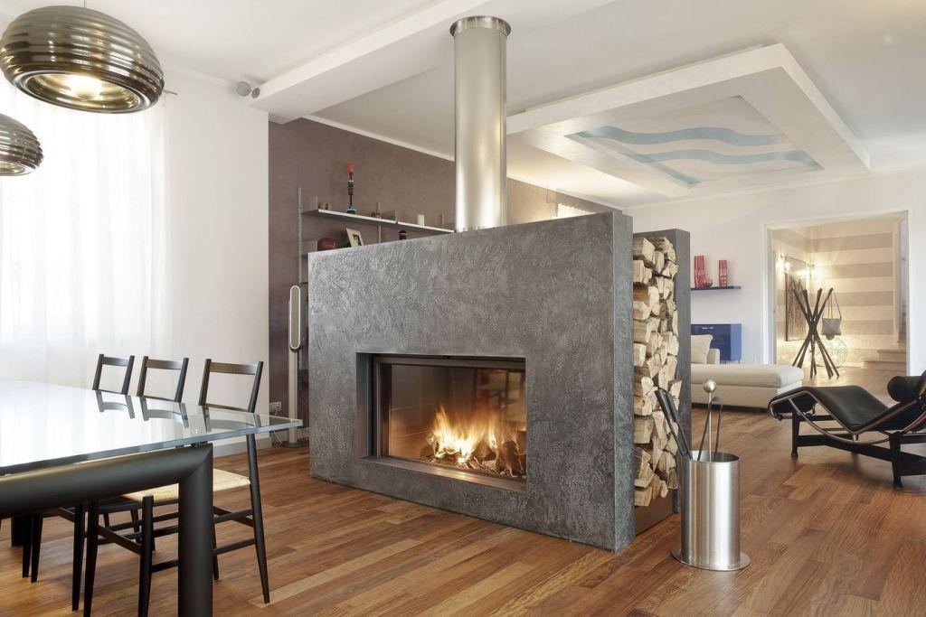 Gallery for Scandinavian Fireplace Design Ideas