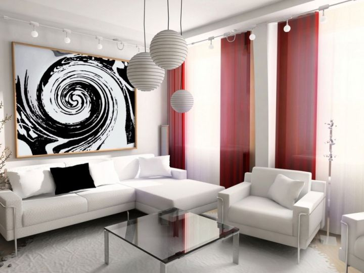 contemporary small living room ideas in white