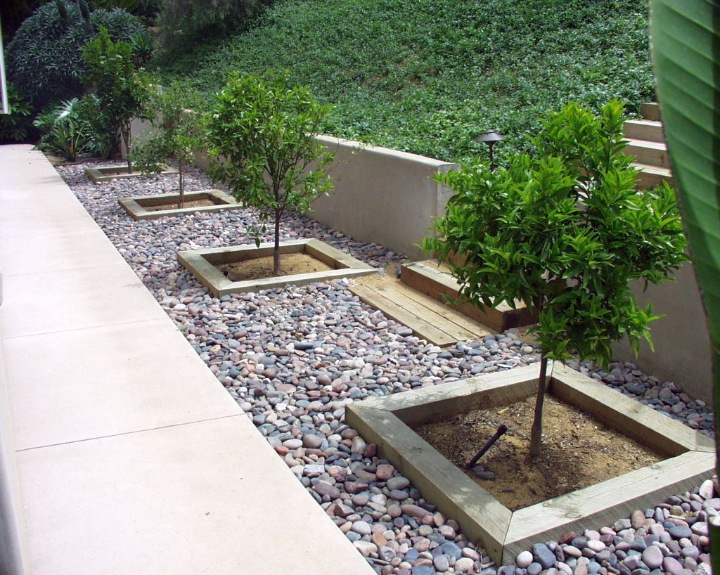 Contemporary stones for flower beds Modern flower beds