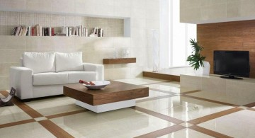 contemporary tile flooring ideas for living room