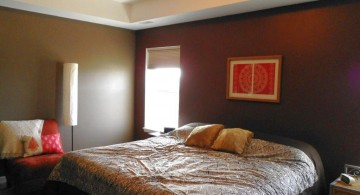 contemporary tray ceiling bedroom for small space