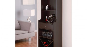 contemporary wine cabinet for small space