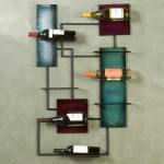 contemporary wine cabinet that also wall decor