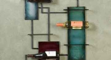 contemporary wine cabinet that also wall decor