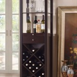 contemporary wine cabinet with decanters