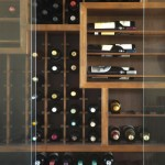 contemporary wine cabinet with unique shelves