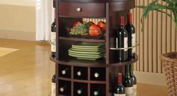 contemporary wine cabinet with wheels