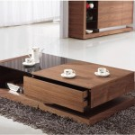contemporary with a single drawer wood coffee table designs