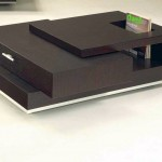contemporary with side drawer wood coffee table designs
