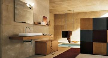 contemporary wooden bathroom designs