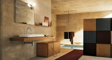 contemporary wooden bathroom designs