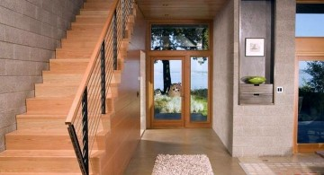 contemporary wooden staircase designs