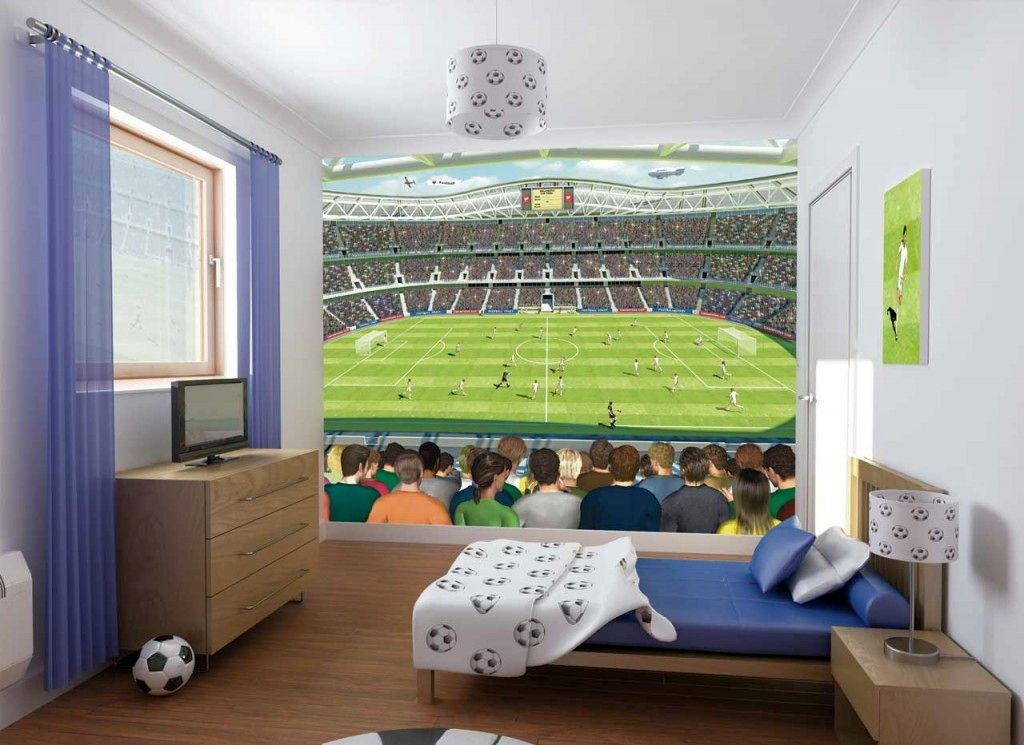 cool bedrooms for teenage guys and football fans - Bedroom For Teenage Guys