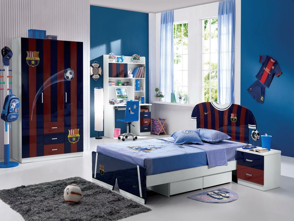 cool bedrooms for teenage guys and soccer fans