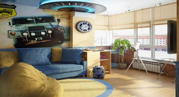 cool bedrooms for teenage guys with car wallpaper