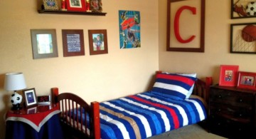 cool bedrooms for teenage guys with stripes comforter