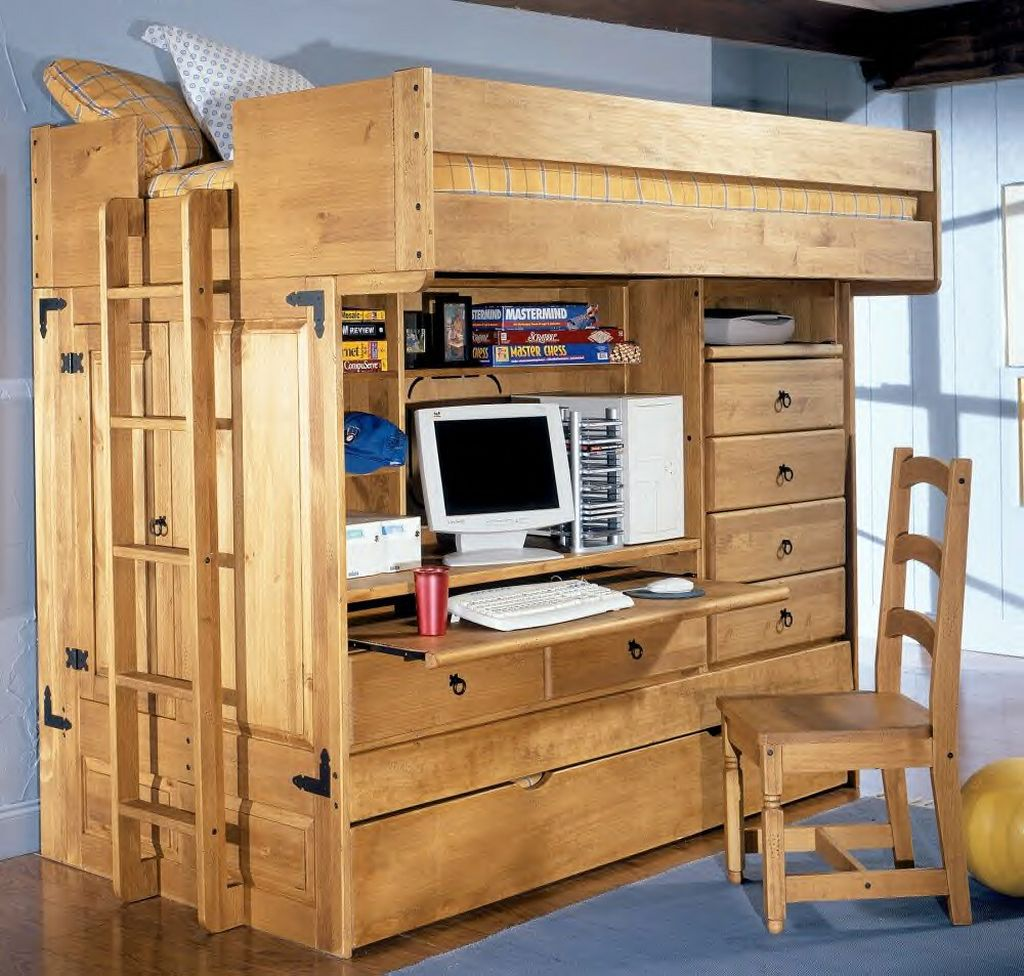 Cool bunk bed designs with stairs on side for small rooms for Bunk bed design ideas