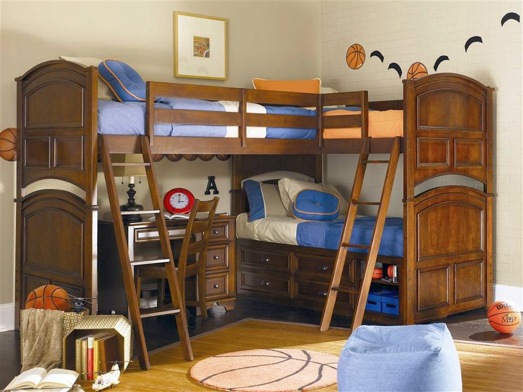 Cool Bunk Bed Designs With Two Sets Of Stairs