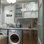 cool colored small laundry room designs