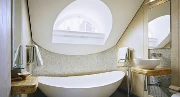 cool modern bathrooms for small attic bathroom