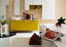 cool modern bathrooms in yellow