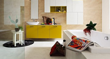 cool modern bathrooms in yellow