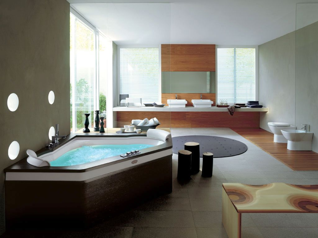 20 cool modern bathroom design ideas for Photos of contemporary bathrooms