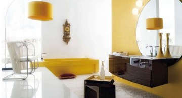 cool modern bathrooms with retro style decorations