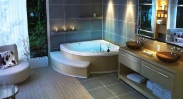 cool modern bathrooms with unique lighting