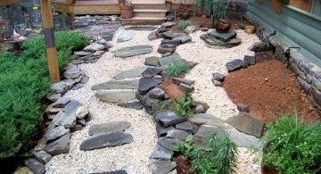 cool zen style Japanese garden backyard design