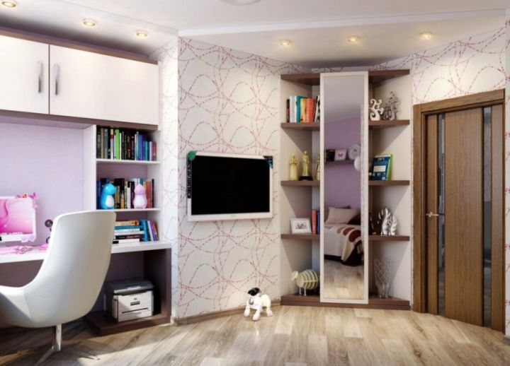 corner shelf designs for teenage girls bedroom