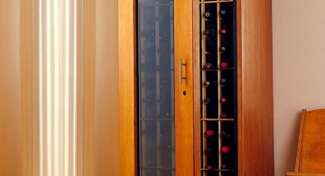 cupboard style contemporary wine cabinet