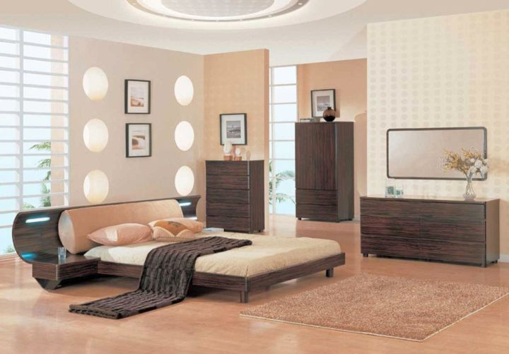 Curved Bed Designs In A Zen Style Bedroom